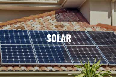 """An image of a residential solar roof installation Naples, FL with the description, """"Solar"""""""